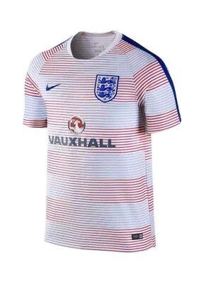 Nike Men's England Flash Pre Match Top II Jersey (White/Royal) 725313-101 - Royals Jersey Cheap