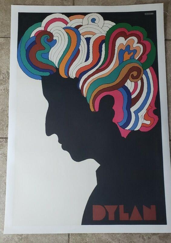 Bob Dylan Milton Glaser Vintage pop art 1978 Linen Backed Mid Century Art Poster