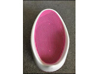 Pink Angel care baby bath seat / support