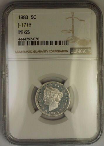 1883 Liberty Nickel Pattern Gem Proof 5c Coin Ngc Pf-65 J-1716 Judd Ww