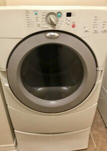 Whirlpool dryer and washer with pedestal