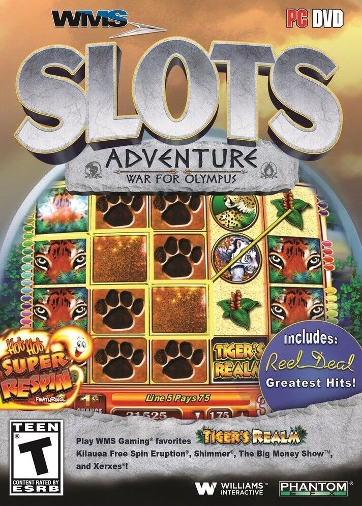 Computer Games - WMS Slots Adventure War For Olympus PC Games Window 10 8 7 XP Computer Games NEW