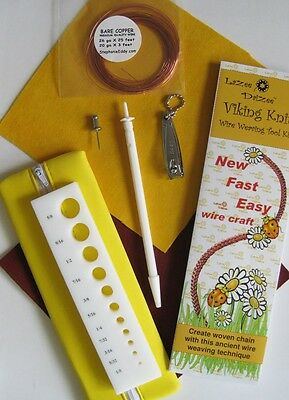 Lazee Daizee Viking Knit Complete Tool Kit Jewelry Art Craft Wire Knitting Braid