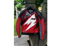IXS Leather Armoured Motorcycle Jacket. Size U.K. 42 / EU 52
