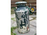 Old aluminium milk churn for restoration