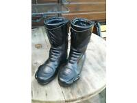 Hein Gericke Black Leather Motorcycle Boots. Size U.K. 7.