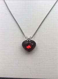 Swarovski Red Heart Necklace