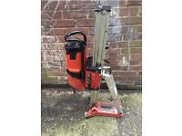 HILTI DD 200 DIAMOND CORE WATER COOLED DRILL AND RIG GOOD USED WORKING ORDER EASY LONDON PICK UP