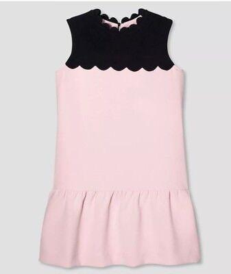 NEW!!Victoria Beckham for Target Blush Drop Waist Scallop Trim Dress Girls L
