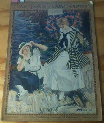 1916 Aug Ladies Home Journal  LHJ Complete KnockOut color ads & art