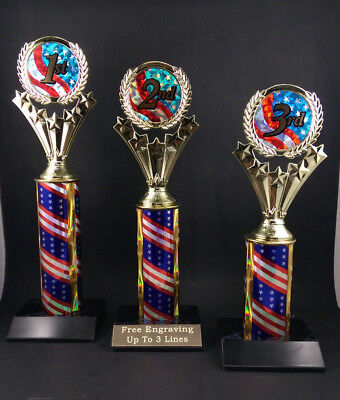 1st 2nd 3rd Place Trophy  Awards. Free Engraving. ()