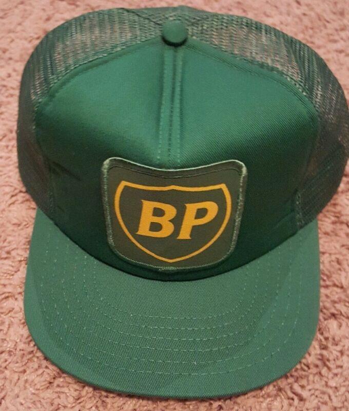 Vintage BP British Petroleum AMOCO Oil Gas Foam Mesh Snapback Trucker Hat Cap