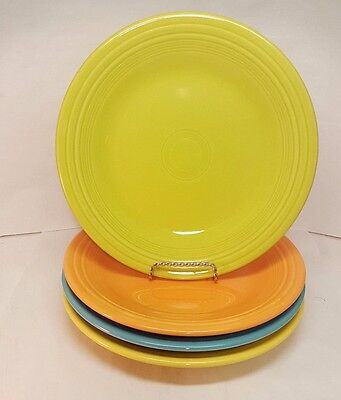Fiestaware mixed colors Dinner Plate Lot of 4 Fiesta 10.5 inch plates -