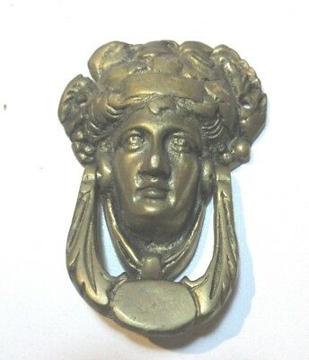 ANTIQUE  BRASS DOOR KNOCKER GREEK ROMAN GOD BACCHUS DIONYSUS