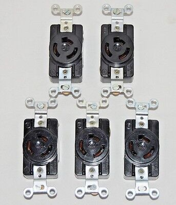 Twist Lock Receptacle 3 Wire - 20a 125250v Lot Of 5