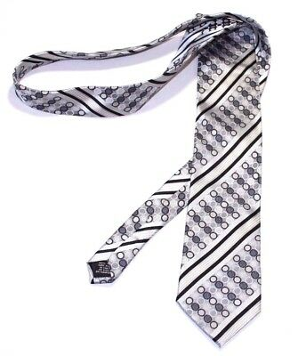 Steve Harvey Tie Collection Men Black Gray Stripes Dots Career Formal