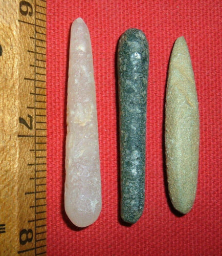(3) Big Choice Sahara Neolithic Plugs/Labrets, Prehistoric African Artifacts