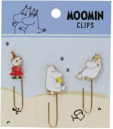 Moomin Valley Little My Snorkmaiden charm paper clip document bookmark 3pcs