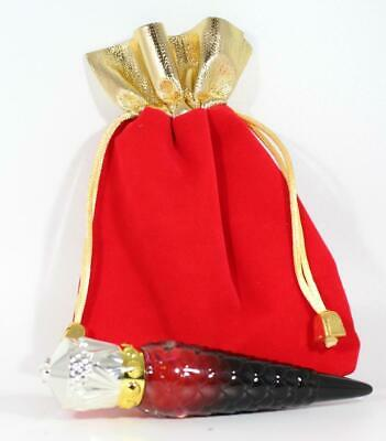 Christian LouiRouge Louboutin Red Lip Beauty Oil w Red Velvet & Gold Gift Bag