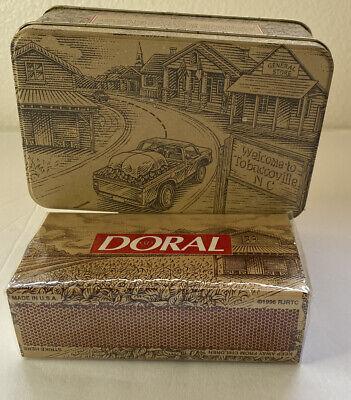 VTG Doral Cigarette Tin & Matches 1996 Advertising Tobaccoville, NC Car