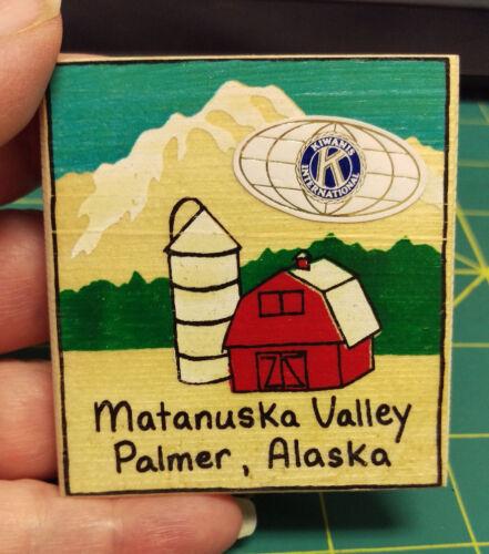 Kiwanis Button Kiwanis International Wood Button Matanuska Valley Palmer Alaska