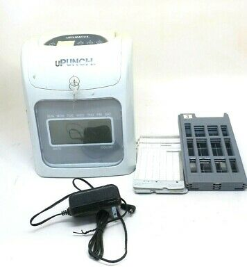 Upunch Electronic Calculating Punch Card Bundle Time Clock System 159969
