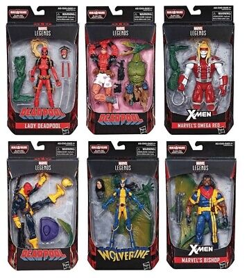 Marvel Legends ~ DEADPOOL ~ BAF Sauron ~ Omega Red ~ Bishop ~ Set Of 6