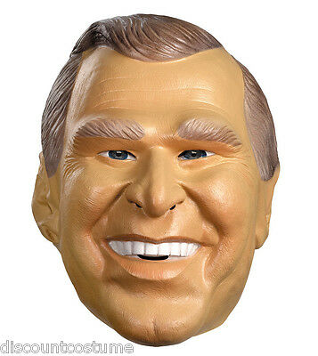 GEORGE W. BUSH 43RD U.S PRESIDENT MASK ADULT HALLOWEEN COSTUME ACCESSORY  (President Bush Halloween Costume)
