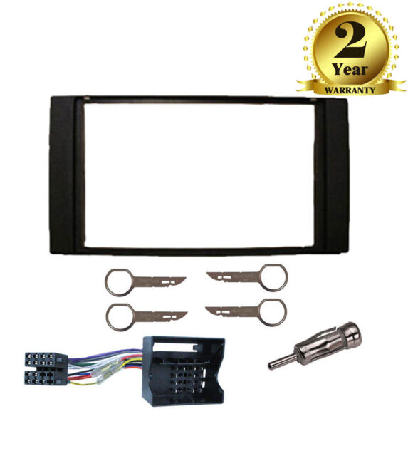 Double DIN Fascia Facia Fitting Package Kit Black For Ford Fiesta 2005 Onwards