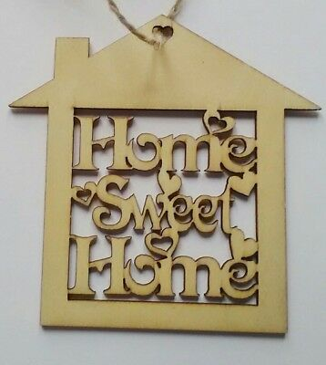 Home Sweet Home Hanging Hollow Wooden Plaques Shabby Chic Door Sign
