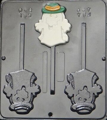 Cool Ghost w/Hat Lollipop Chocolate Candy Mold Halloween 940 - Cool Halloween Candy