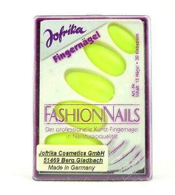 Jofrika 16816 Fashion Nails künstliche Fingernägel neon gelb