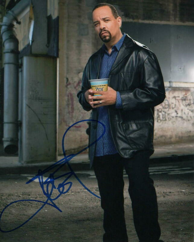 ICE-T SIGNED AUTOGRAPH 8X10 PHOTO - LAW AND ORDER: SVU - DETECTIVE FIN TUTUOLA B