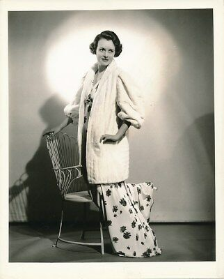 MARY ASTOR Original Vintage 1936 Whitey Schafer Columbia FASHION Portrait Photo