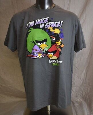 Angry Birds Mens I'm Huge In Space Shirt New XL