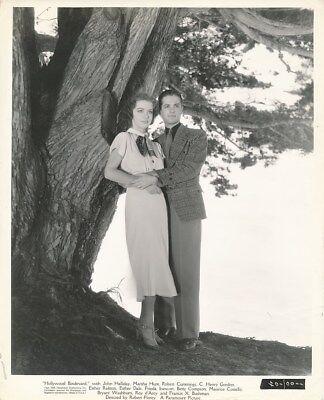 MARSHA HUNT ROBERT CUMMINGS Original Vintage HOLLYWOOD BOULEVARD Portrait Photo