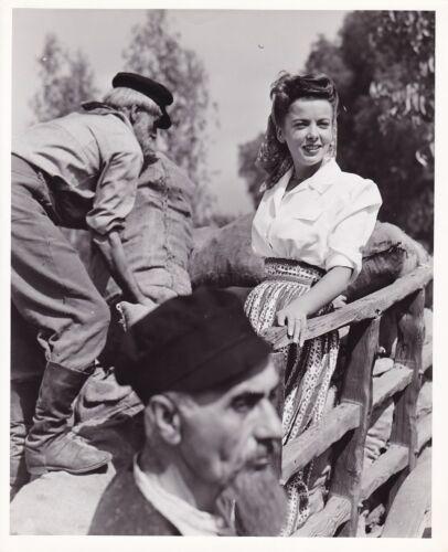 IDA LUPINO Original CANDID Studio Set Vintage 1944 MORGAN Warner Bros. Photo