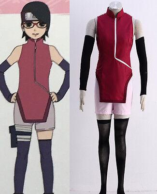 BORUTO NARUTO THE MOVIE Cosplay costume Kostüm manga cartoon anmie Uchiha - Sarada Uchiha Cosplay Kostüm