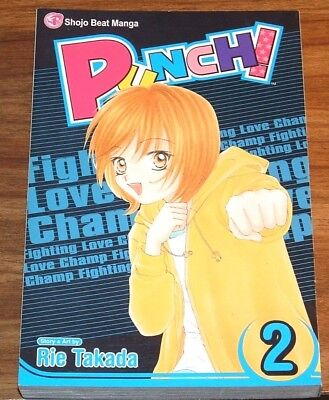 MANGA Punch! vol#2 *FINE L/N* RIE TAKADA v volume VIZ MEDIA Shojo Beat 2007