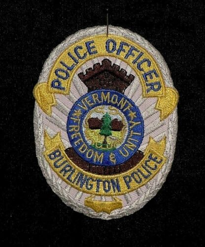 Police Officer Uniform Patch - Burlington Vermont Freedom & Unity