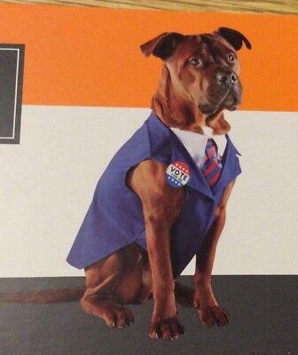Pet President Costume Democrat Republican Vote For Me Dog Suit - XL Extra (Extra Large Hunde Kostüm)