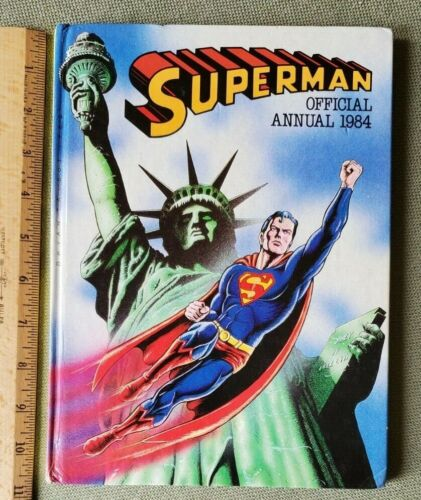 """1984 Superman Official Annual - Hardcover 10.75"""" x 8"""" - UK Edition Reprints"""