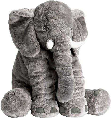 Gray Stuffed Elephant Animal Plush Toy