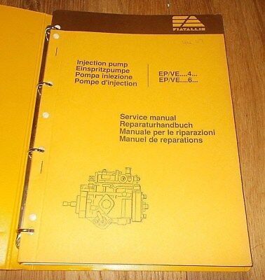 Fiat Allis Epve 4 Epve 6 Injection Pump Service Manual