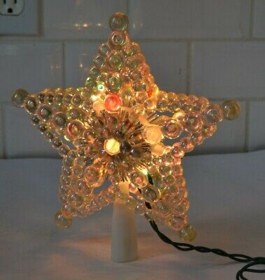 "8"" Beaded Iridescent Star Light-up Christmas Tree Topper by HOLIDAY HOME"