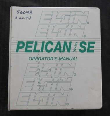 Elgin Pelican Se Series Street Sweeper Broom Parts Operators Manual John Deere