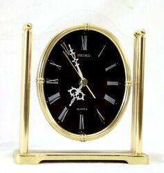 Vintage Seiko 28102 Quartz Glass Table Top/Mantle Clock - Works