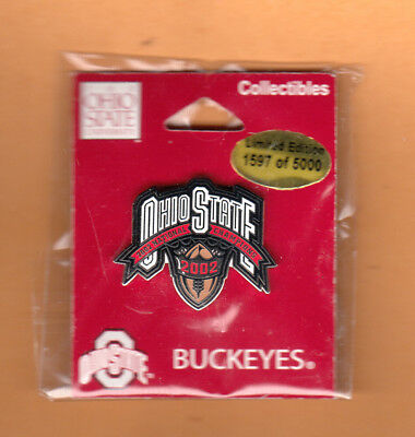Ohio State Buckeyes Lapel Pin (2002 NATL CHAMPIONS OHIO STATE BUCKEYES LAPEL PIN UNSOLD #d LTD EDITION)