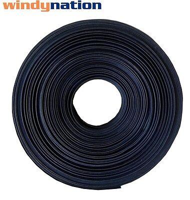 """25 FT 25' Feet BLACK 1"""" 1 inch Polyolefin 2:1 Heat Shrink Tubing"""