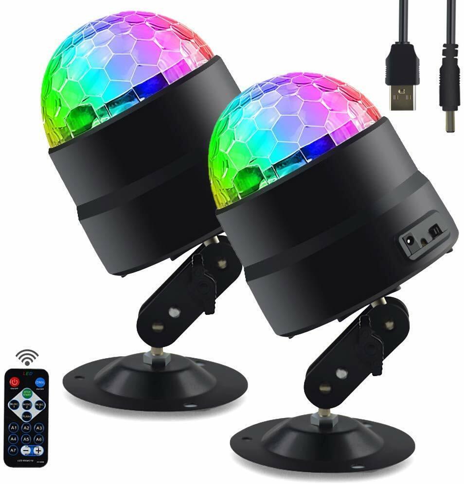 Disco Ball DJ Party Lights Portable Remote LED Strobe Light
